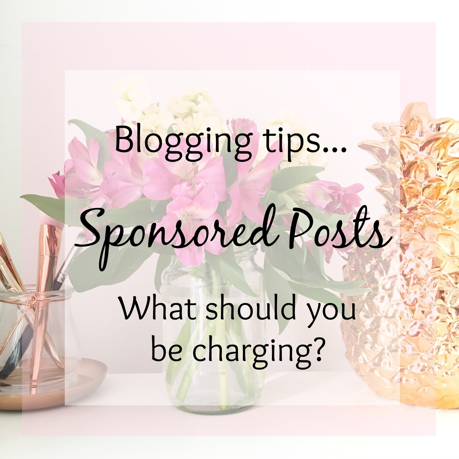 Blogging tips - what to charge for sponsored posts