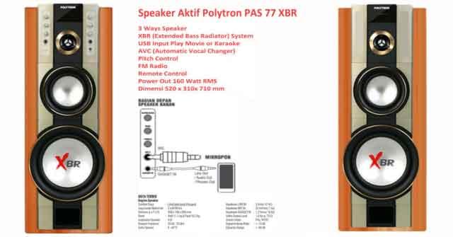 Harga Speaker Aktif Polytron PAS 77 XBR