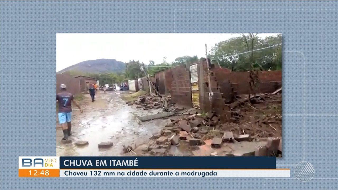 TEMPORAL: Forte chuva causa estragos e deixa mais de 70 famílias desabrigadas em Itambé