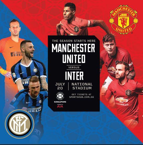 Susunan Pemain Manchester United vs Inter Milan - ICC 2019 Singapura