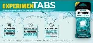 Cadastrar Promoção Listerine Go! Tabs Experimente Grátis - Dinheiro de Volta