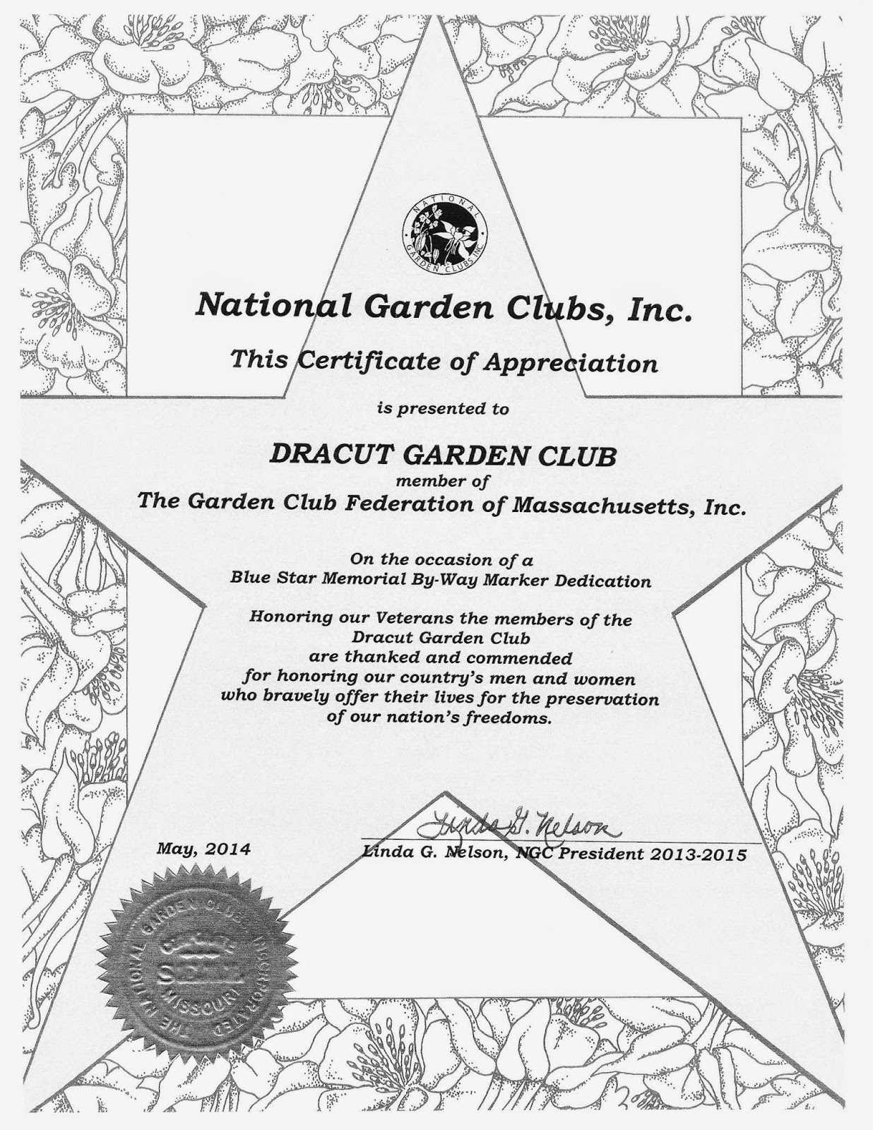Dracut Garden Club: Awards