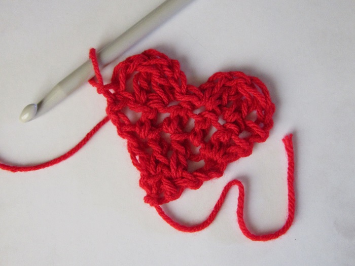 heart, crochet, free pattern