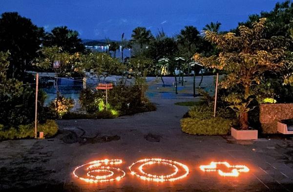 Eart Hour di Harris Resort Barelang, Bersama Tamu Menikmati Suasana Mati Lampu