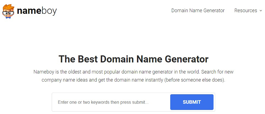 NameBoy is a domain name generator tool