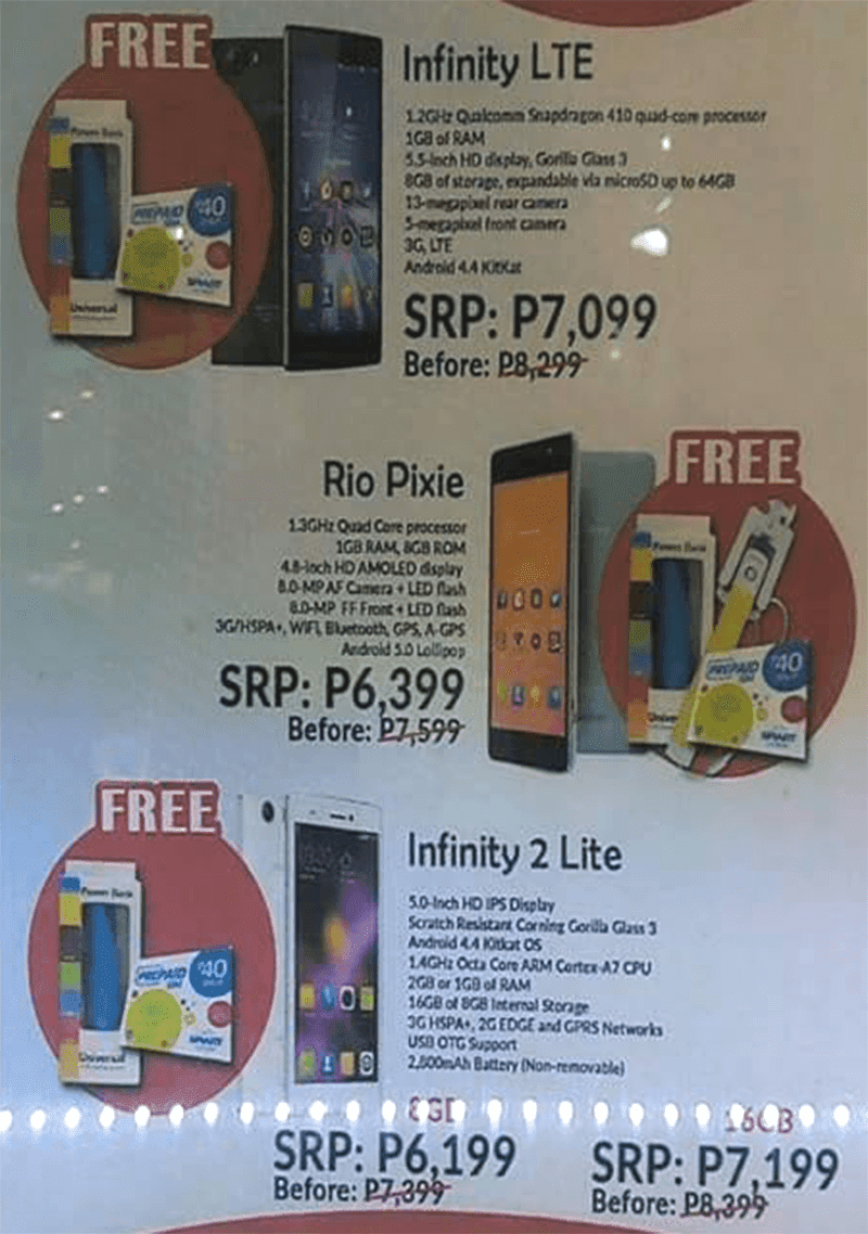 MyPhone Infinity 2 Lite, Infinity LTE And Rio Pixie On A 20% Off Sale!