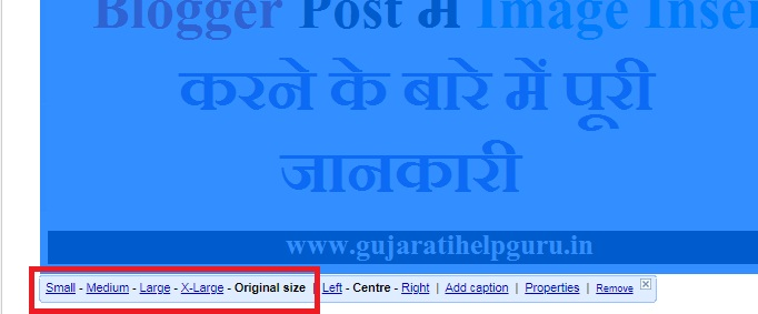 Inserted Image को Resize कैसे करें – How to Resize Inserted Image in Hindi ?