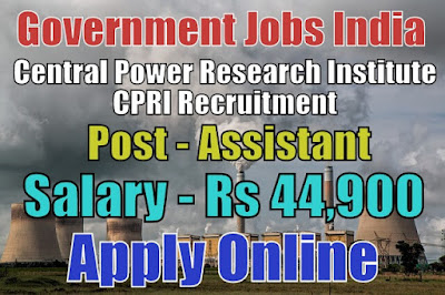 Central Power Research Institute CPRI Recruitment 2018
