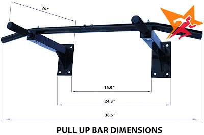 Cấu tạo xà đơn Wall Pull Up Bar P90X( 5 trong 1)
