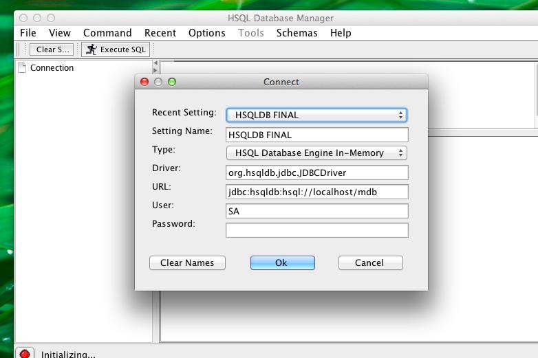 Vinants Blog: Setup HSQLDB on MAC
