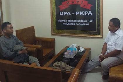 Klien Bertemu dengan Ketua Dpc Hapi Kabupaten Karawang Drs. Syafrial Bakri, SH., MH., Pada Kamis, 12 Desember 2019