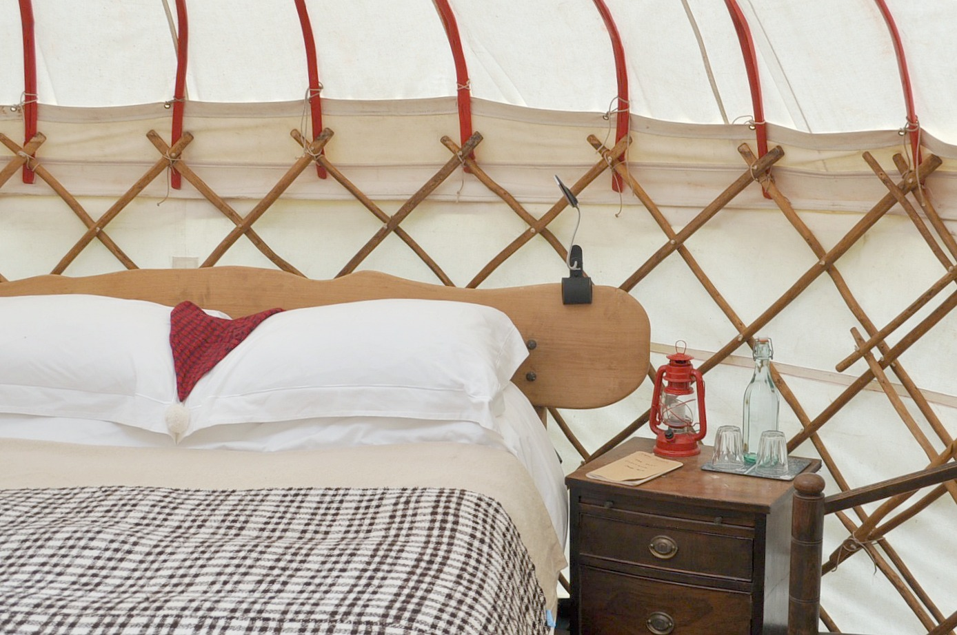 glamping at knepp wildland safari, canopy & Stars