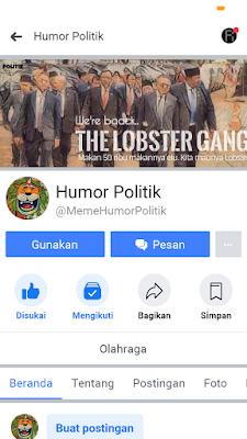 Fanpage humor Politik