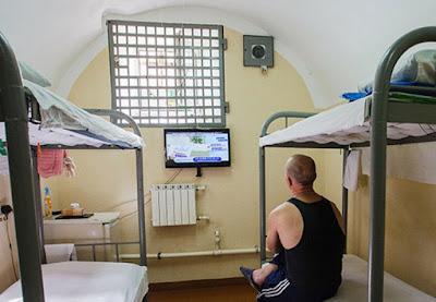 Russian prisoner in jail