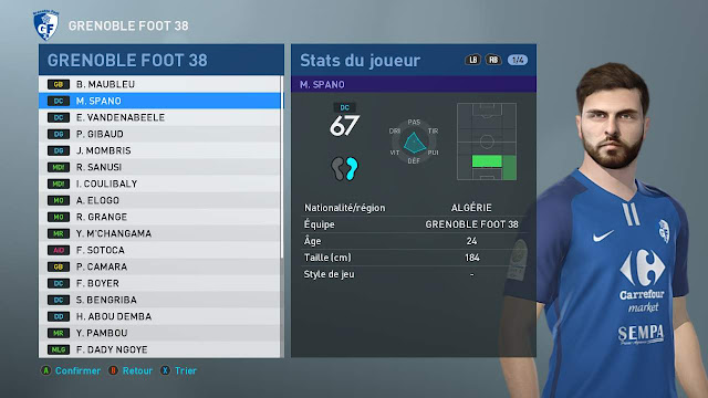 PES 2020 Maxime Spano Face by Tiitoo