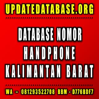 Jual Database Nomor Handphone Kalimantan Barat