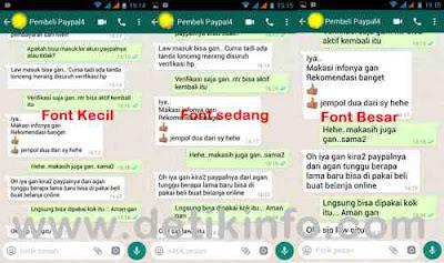 Cara Merubah Ukuran Huruf di Papan Chatting WhatsApp