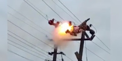 Watch The Tragic Moment A Man Was Electrocuted Till His Head Fell Off In Delta