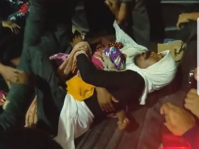 Sepasang Kekasih Gancet di Tengah Jalan Raya Batubara, Tak Bisa Dilepas