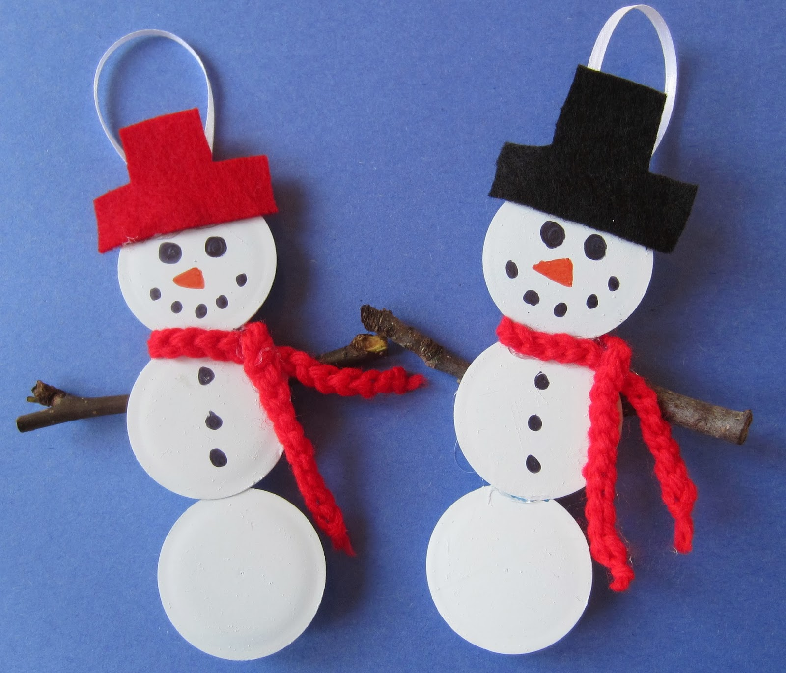Easymeworld diy snowman christmas ornaments for Plastic snowman