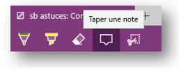 sb astuces - Windows 10 - annoter une page web - taper une note