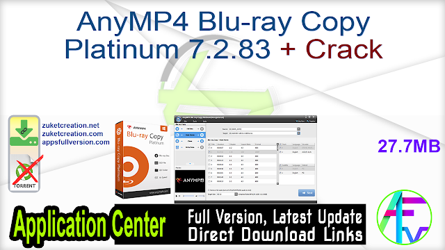 AnyMP4 Blu-ray Copy Platinum 7.2.83 + Crack