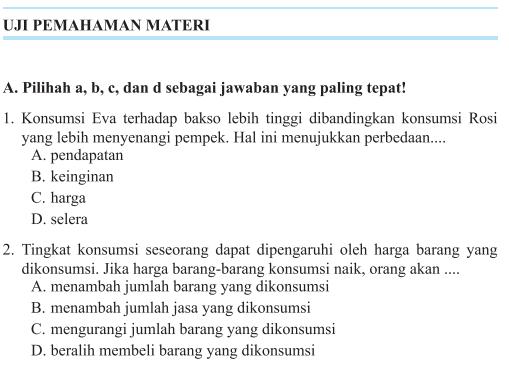 Jawaban PG Uji Kompetensi Bab 3 Halaman 188 IPS Kelas 7 ...