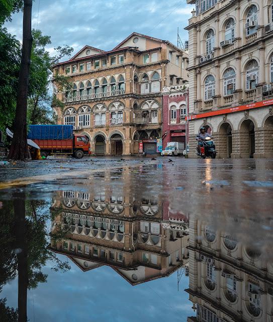 mumbai, colonial architecture, Horniman Circle, photography,