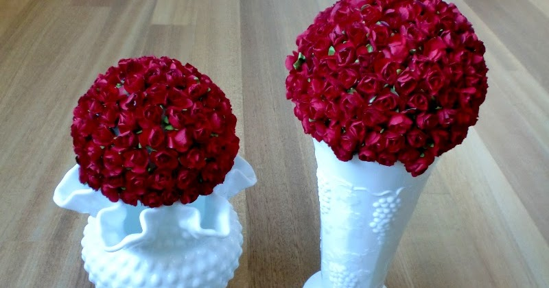 Charmingly Creative: Milk Glass Vase table decorations - photo#31