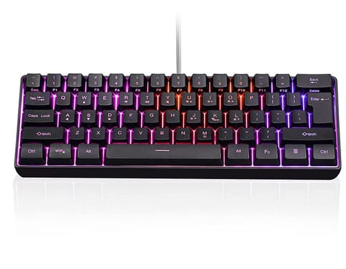 Ubbie Portable 61 Keys Wired Mini RGB Gaming Keyboard