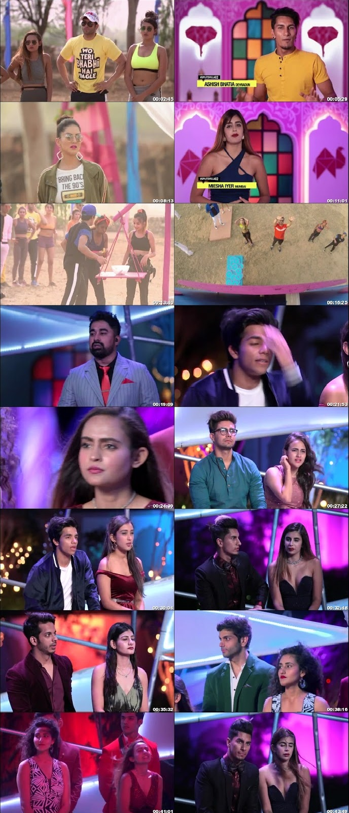 Screenshots Of Hindi Show Splitsvilla 12 6th September 2019 Episode 04 300MB 720P HD