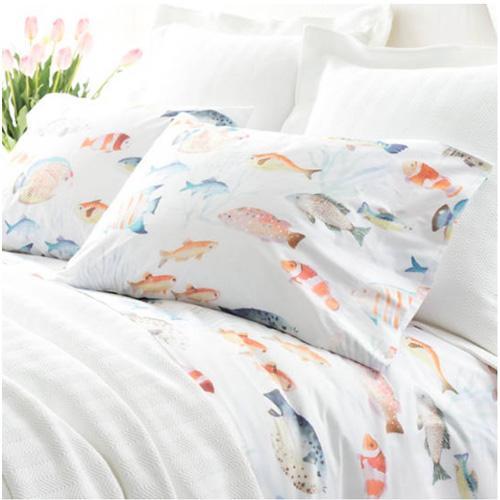 Pine Cone Hill Happy Fish sheet set