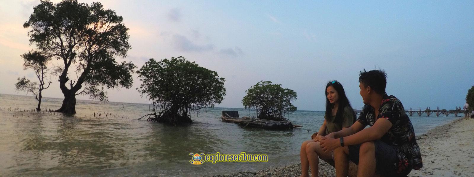 wisata yang tertunda di pulau tunda banten