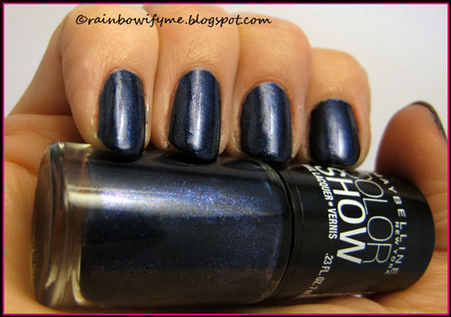 The Purple Shimmer In Bottle Didn T Transfer To Nails Though But Hey It S Still A Pretty Midnight Blue Here What Looks Like On