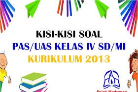 Kisi-kisi Soal PAS/UAS Kelas 4 SD/MI Kurikulum 2013 Tahun 2019-2020