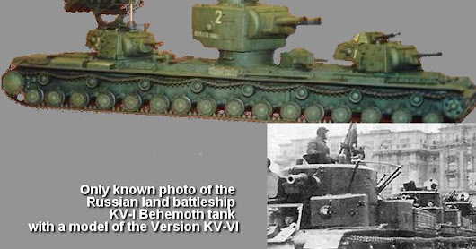 The Russian land battleship - KV-VI Behemoth tank