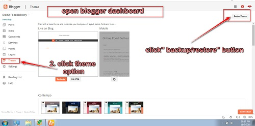 Blog Templates Ko Blogger Me Upload Kaise Kre In Hindi W3survey