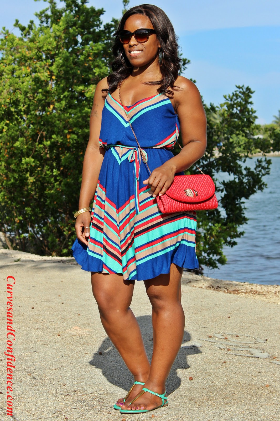 Weekend Wear Diagonal Stripes Curves And Confidence