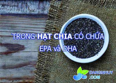 Hạt chia có chứa EPA và DHA
