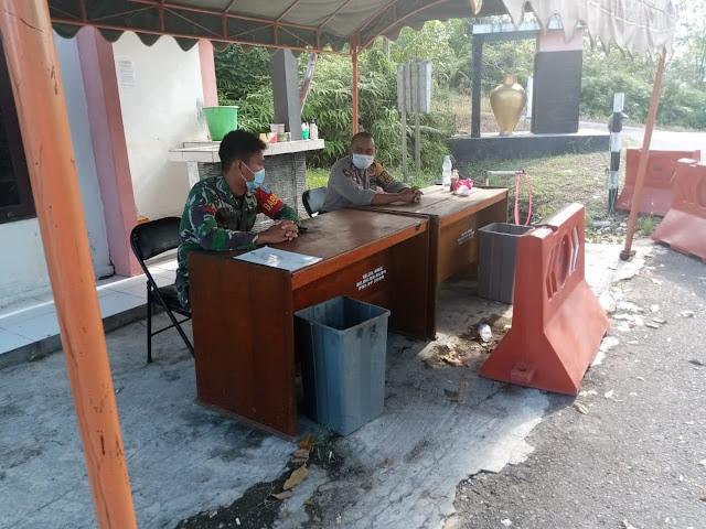 Mess Desa Lamandau di jaga TNI dan Polri
