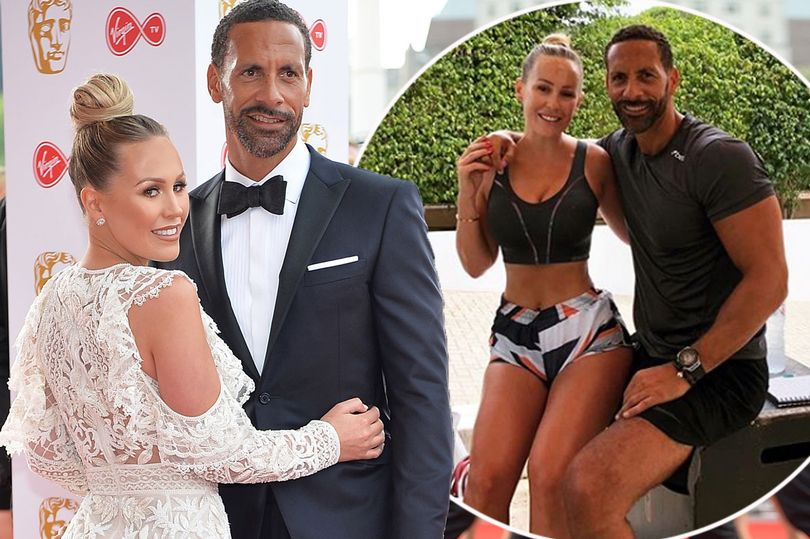 Kate Wright cosies up to beau Rio Ferdinand in Manchester