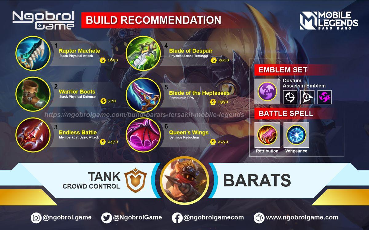 Build Barats Savage Mobile Legends