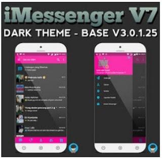 BBM Mod iMessenger V7 Dark Theme