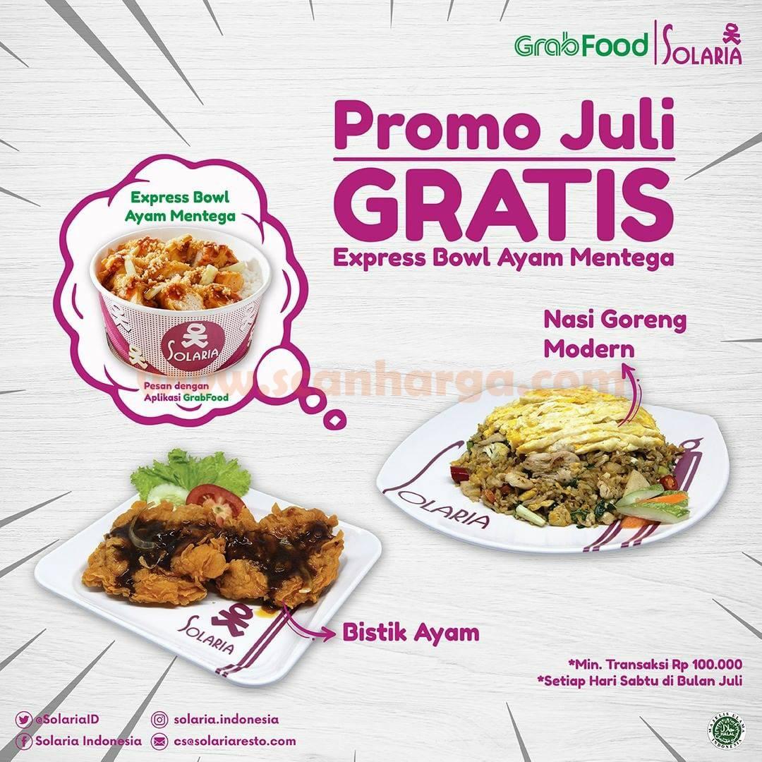 Promo SOLARIA Grabfood GRATIS Express Bowl Ayam Mentega