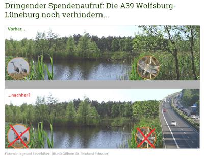 Fotomontage und Einzelbilder:  (BUND-Gifhorn, Dr. Reinhard Schrader)