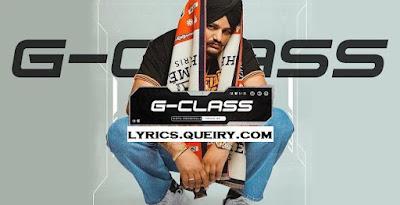 G Class Sidhu Moose Wala Lyrics