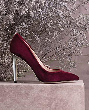 zapatos salón terciopelo Gloria Ortiz