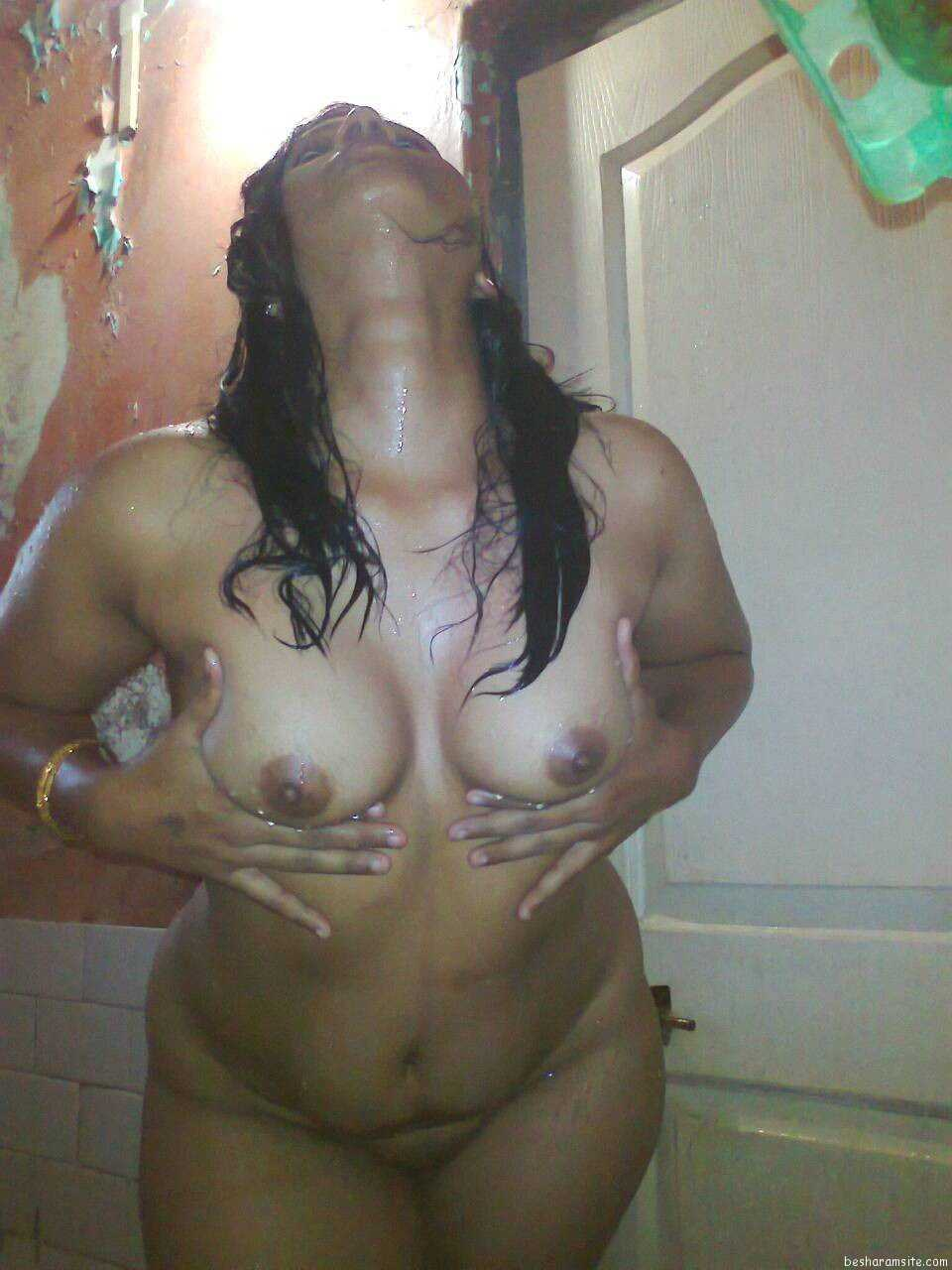 Hot indian aunty boobs shawer maid