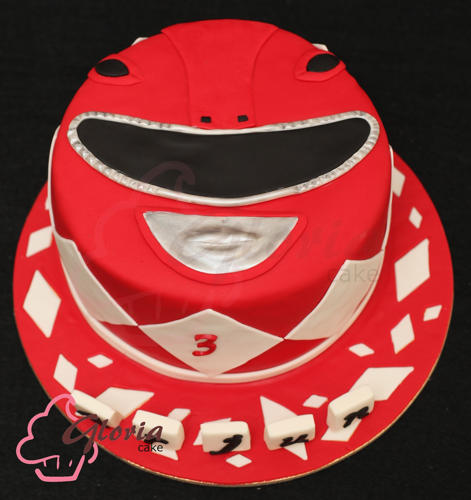Gloria Cake Red Power Ranger
