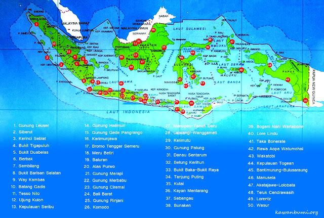 Daftar Taman Nasional di Indonesia